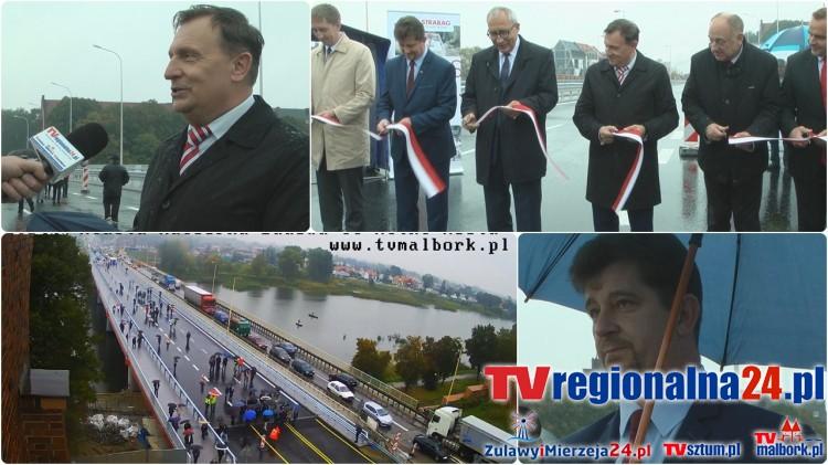 Nowy most w Malborku uroczyście otwarty, stary zamknięty na czas rozpoczynającej się modernizacji drogi. (wideo, foto, pełne nagranie uroczystości) 03.10.2016