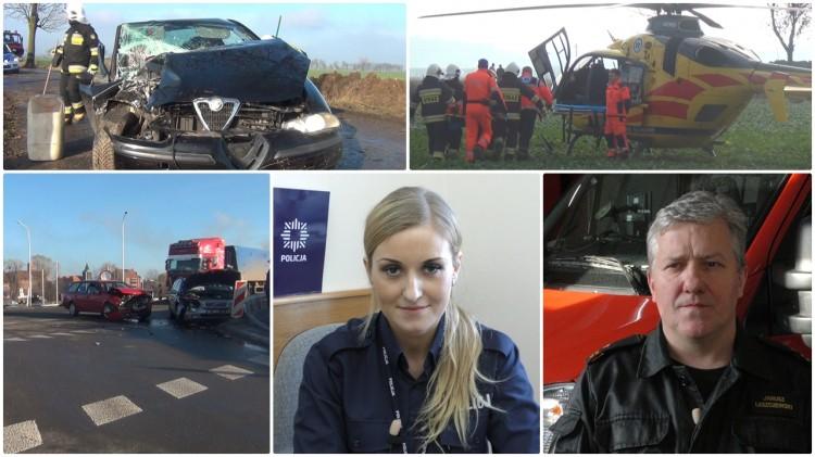 Pijany uderzył w drzewo. Kierowca i 12 letni pasażer trafili do szpitala. Weekendowy raport malborskich służb mundurowych - 21.11.2016