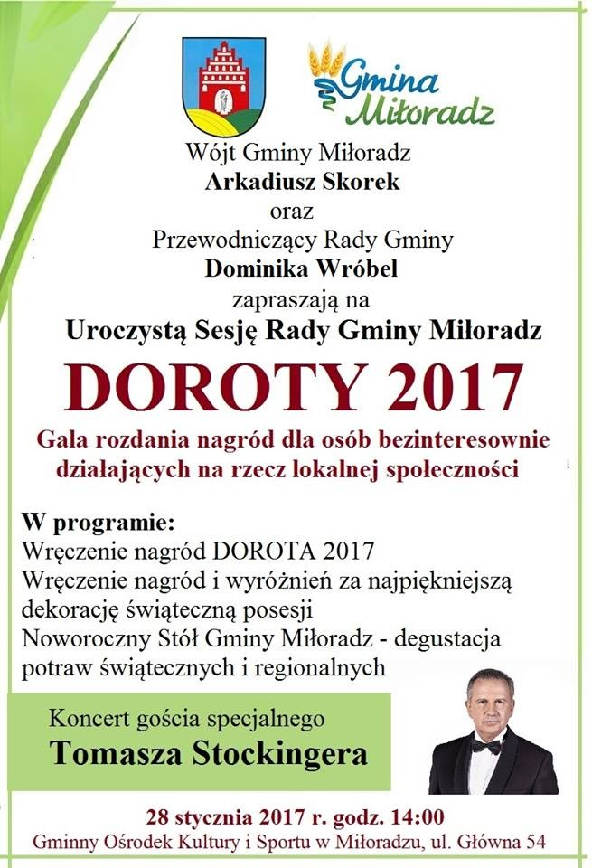 Wójt i Przewodniczący Rady Gminy Miłoradz zapraszają do składania nominacji w konkursie
