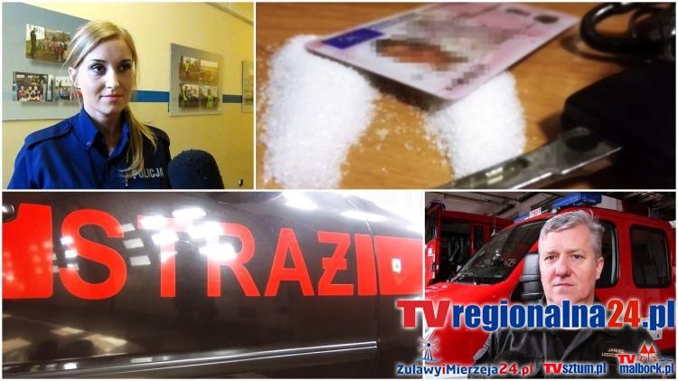 Kierowca miał w aucie amfetaminę. Weekendowy raport malborskich służb mundurowych - 20.03.2017
