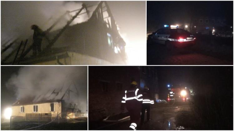 Spłonęła stodoła i budynek mieszkalny z którego ewakuowano 12 osób. Pracowita noc strażaków w Powiecie Malborskim - 04-05.04.2017
