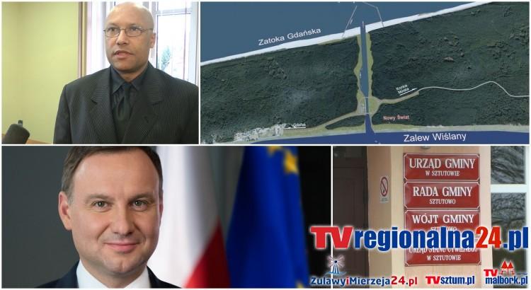Jakub Farinade Wójt Gminy Sztutowo komentuje podpisaną przez Prezydenta specustawę o budowie kanału przez Mierzeję Wiślaną - 06.04.2017
