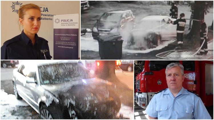 Zagadkowe pożary - spłonęły cztery auta. Samozapłon czy podpalenie? Weekendowy raport malborskich służb mundurowych - 22.05.2017