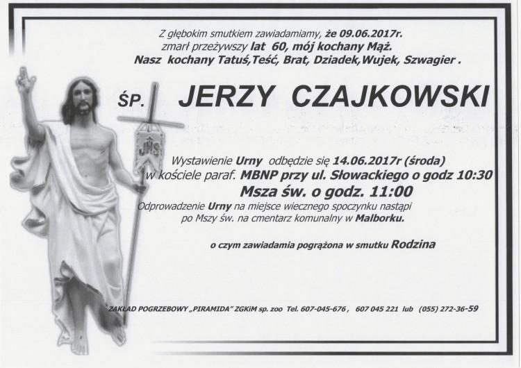 Zmarł Jerzy Czajkowski. Żył 60 lat.