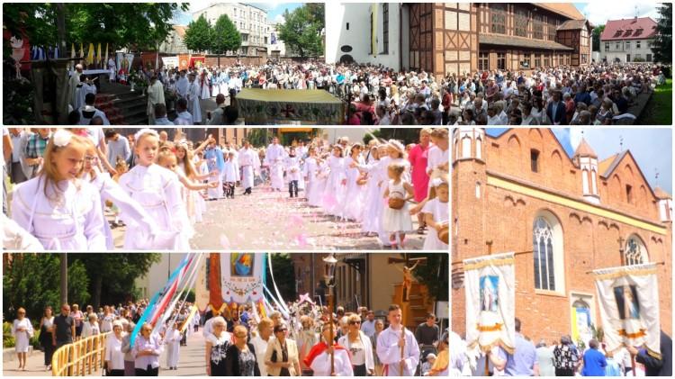 Tłum wiernych na procesji Bożego Ciała w Malborku – 15.06.2017