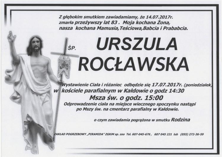 Zmarła Urszula Rocławska. Żyła 83 lat.