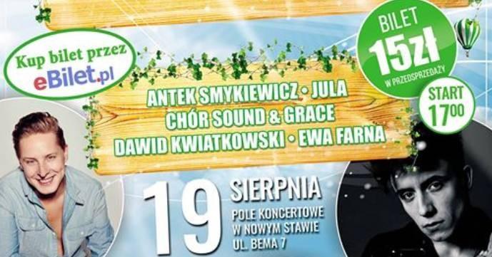 Zapraszamy po bilety! Ewa Farna, Jula, Antek Smykiewicz i Sound & Grace. Ruszyła sprzedaż biletów!
