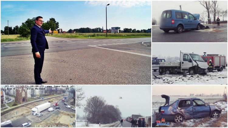 Czy to koniec wypadków? Będzie remont drogi i przebudowa skrzyżowania Bystrze - Kończewice. Wójt Miłoradza o decyzji ministerstwa - 28.07.2017