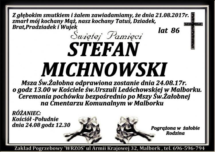 Zmarł Stefan Michnowski. Żył 86 lat.