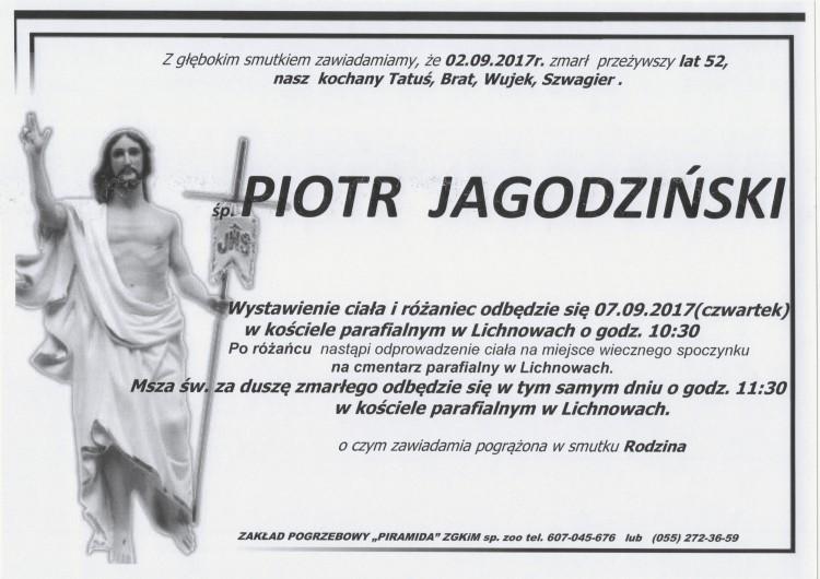 Zmarł Piotr Jagodziński. Żył 52 lat.