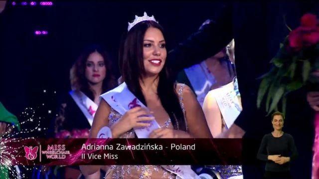 Z ostatniej chwili! Adrianna Zawadzińska z Malborka II Vice Miss Świata! - 07.10.2017