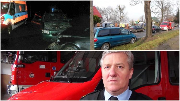 """Jesień """"sprzyja"""" wypadkom. Malborscy strażacy nadal wyjeżdżają na ratunek kierowcom - 27.11.2017"""