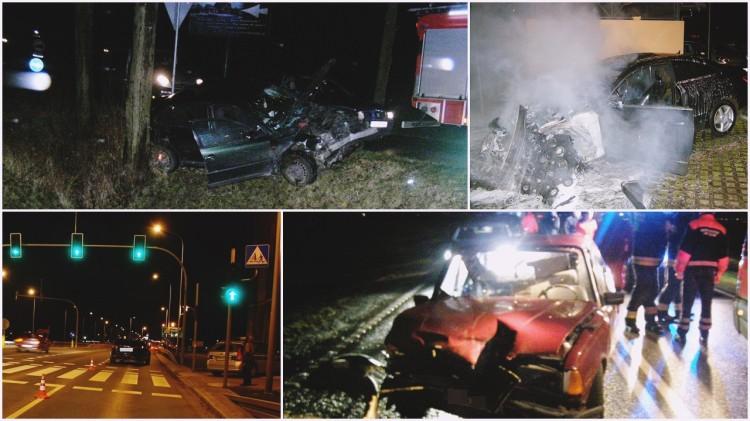 Malbork: Spłonęło auto przy Słowackiego! Tragiczny bilans świąt na drogach: wypadek i dwa potracenia, jeden ze skutkiem śmiertelnym – 27.12.2017