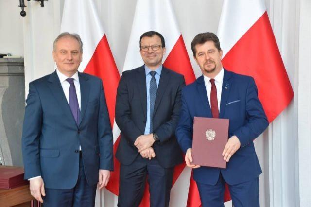 Burmistrz Miasta Malborka Marek Charzewski odebrał promesę umowy w ramach programu