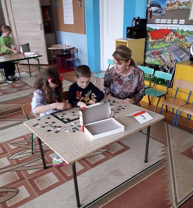 Międzygrupowy Konkurs Puzzlowy w malborskim Przedszkolu nr 8