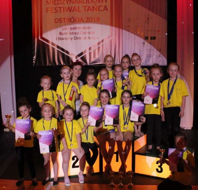 Sukces malborskich Bursztynek na Międzynarodowym Festiwalu Tańca w Ostródzie