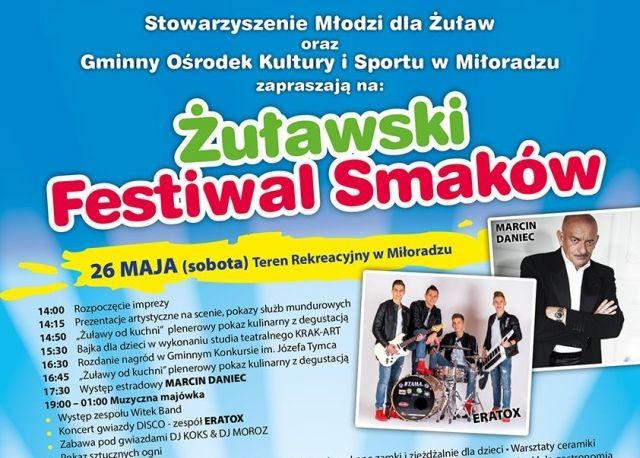Zapraszamy na Żuławski Festiwal Smaków w Gminie Miłoradz. Gwiazdą Festiwalu będzie Marcin Daniec!