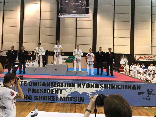 Kadra Malborskiego Klubu Kyokushin Karate na Mistrzostwach Europy w Bułgarii