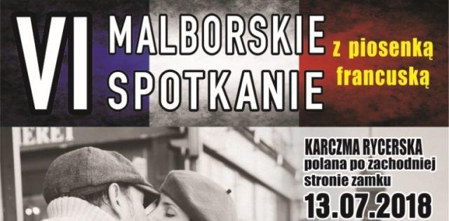 Zapraszamy na VI malborskie spotkanie z piosenką francuską