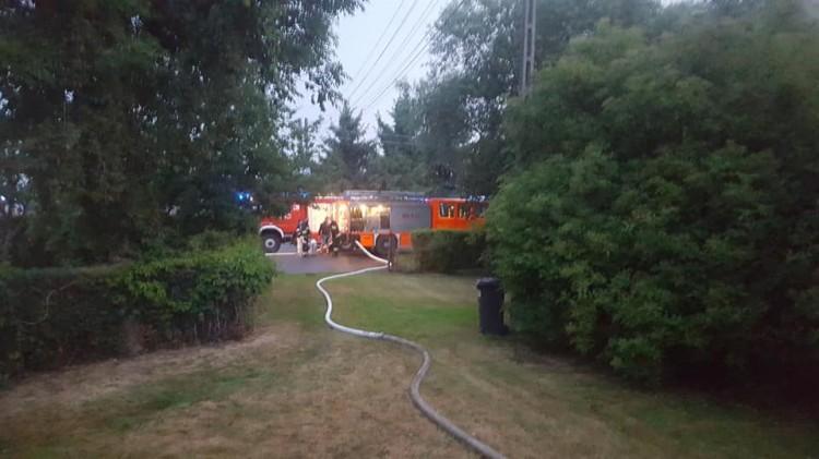 Pożar budynku gospodarczego w Lasowicach Wielkich.Weekendowy raport malborskich służb mundurowych