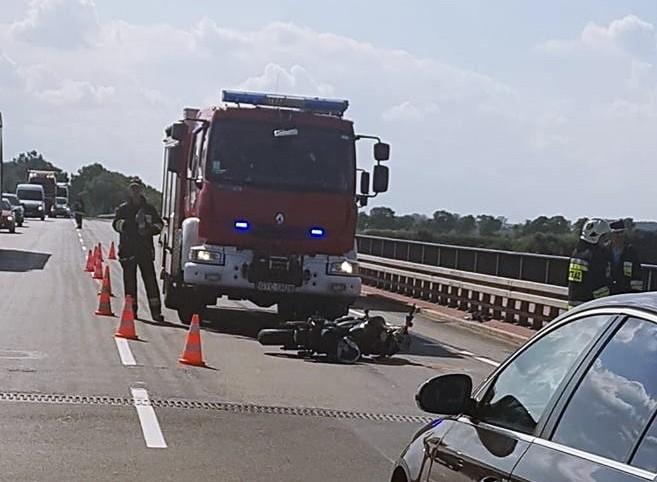 W wyniku wypadku motocyklista trafił do szpitala