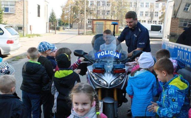 Malborscy policjanci gościli dzieci z Przedszkola Nr 5