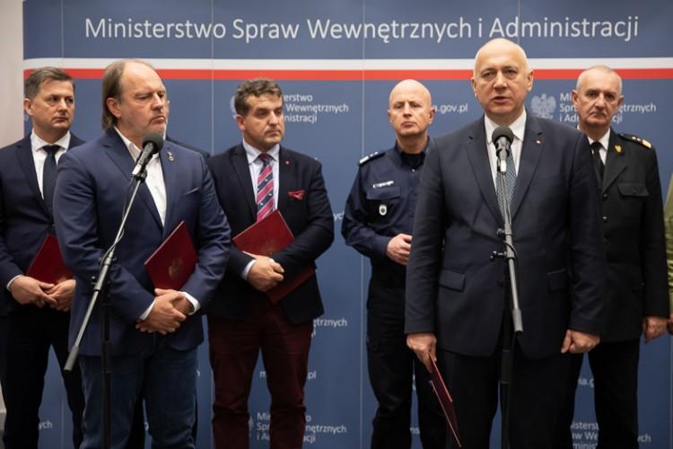 Koniec protestu. Jest porozumienie MSWiA i związków zawodowych funkcjonariuszy.