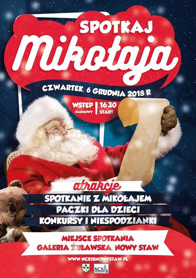 Spotkanie z Mikołajem w Nowym Stawie. Zapraszamy wszystkie dzieci do Galerii Żuławskiej