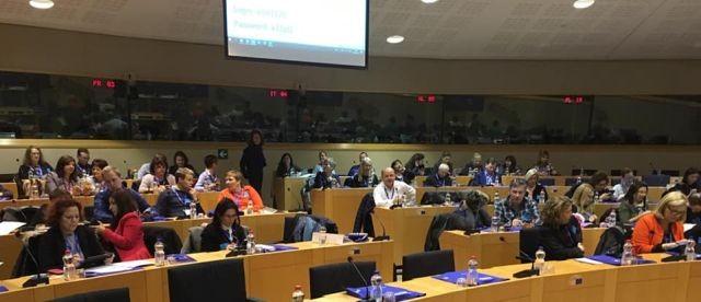 Dyrektor malborskiego ZSP nr 3 na seminarium w Brukseli.