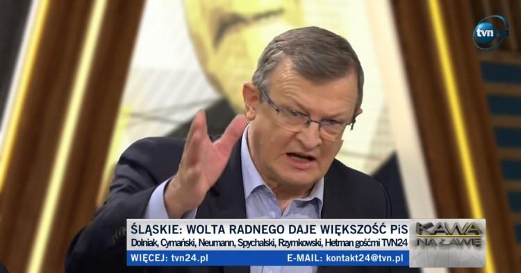 """Tadeusz Cymański w TVN24: """"Przewodniczący Rady Miasta Malborka, został wybrany w porozumieniu PiS i PO"""". Władze platformy badają sprawę."""