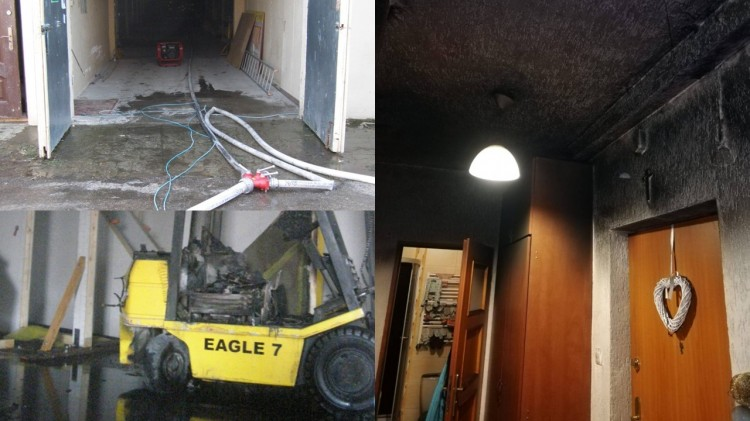 Pożar mieszkania, 15 osób uciekło z budynku – weekendowy raport malborskich służb mundurowych.