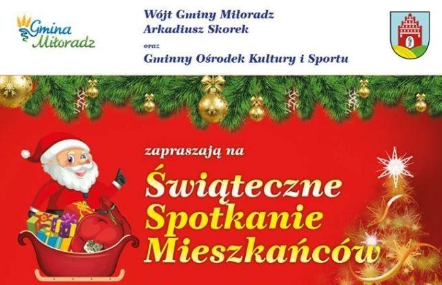 Świąteczne Spotkanie mieszkańców gminy Miłoradz. Zobacz godziny odjazdu autobusu.