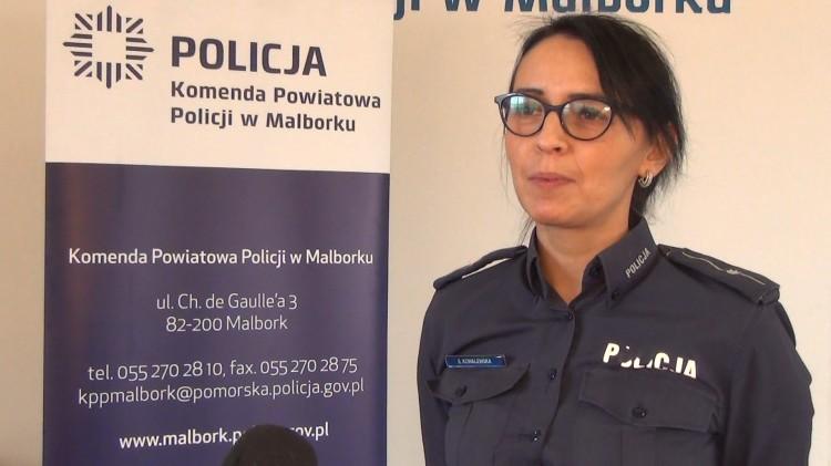 Kobieta bez odblasków – śmiertelne potrącenie w Kończewicach. Weekendowy raport malborskich służb mundurowych.