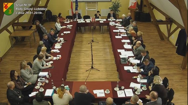 IV sesja Rady Gminy Lichnowy. Na żywo