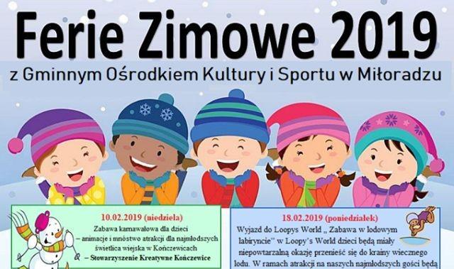 Ferie 2019: Warsztaty artystyczne, wyjazdy do kina - zobacz jakie atrakcje przygotował Gminny Ośrodek Kultury i Sportu w Miłoradzu