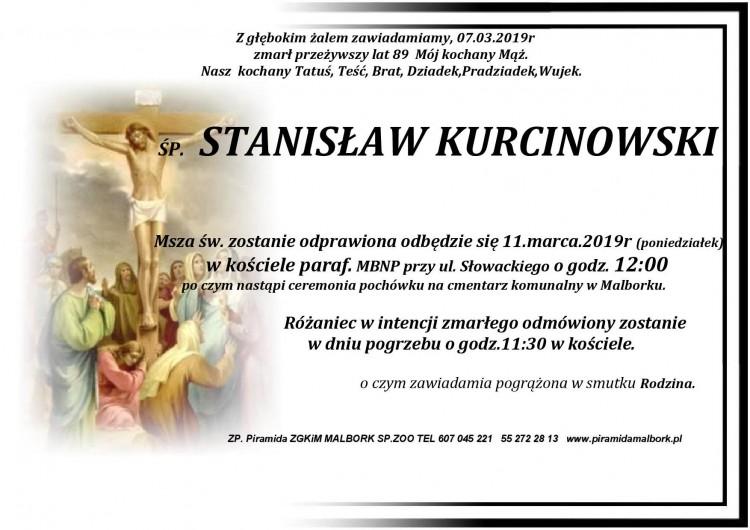 Zmarł Stanisław Kurcinowski. Żył 89 lat.