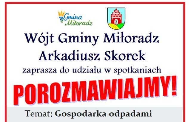 """""""Porozmawiajmy"""" cykl spotkań dla mieszkańców Gminy Miłoradz"""