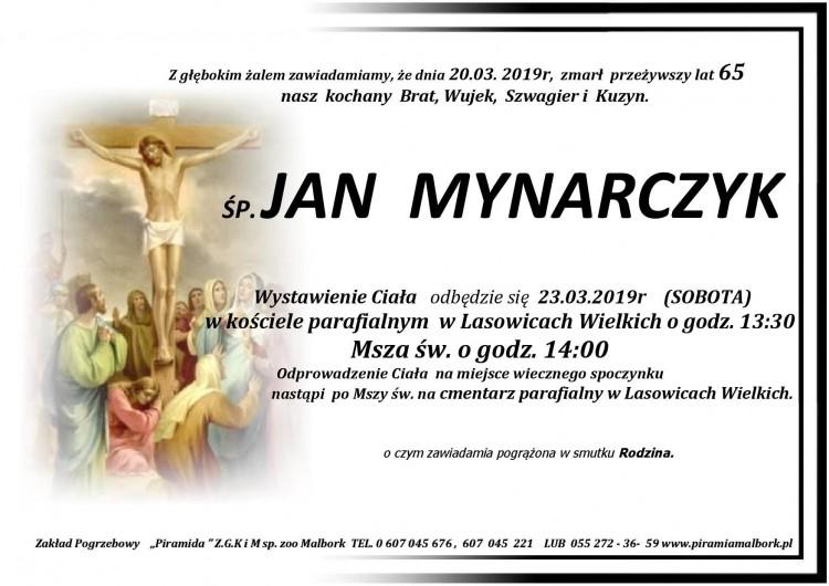 Zmarł Jan Mynarczyk. Żył 65 lat.