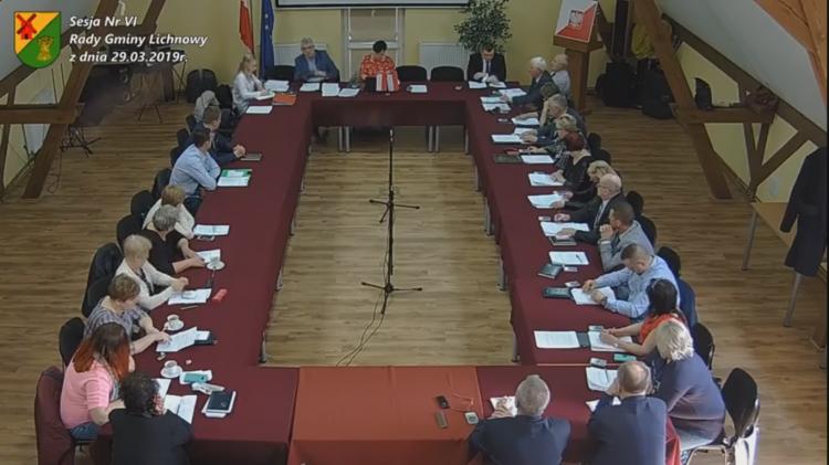 Sesja VI Rady Gminy Lichnowy. Na żywo