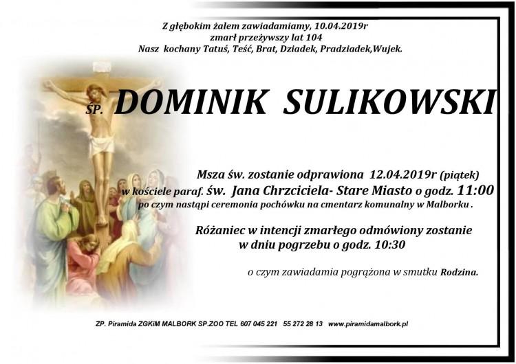 Zmarł Dominik Sulikowski. Żył 104 lata.
