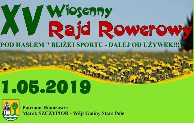 """Gmina Stare Pole: XV Wiosenny Rajd Rowerowy pod hasłem """"Bliżej sportu – dalej od używek!!!"""""""