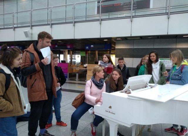 Malborscy uczniowie z wizytą w partnerskiej szkole Sekundarschule Monheim w Niemczech.