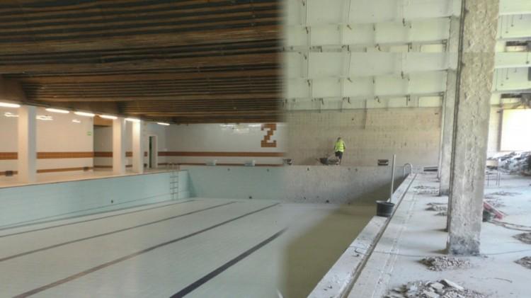 Pierwszy etap dobiega końca. Czy remont basenu idzie zgodnie z planem?