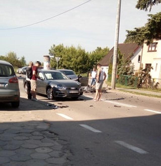 Zderzenie dwóch aut na Armii Krajowej w Malborku