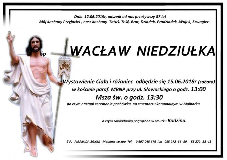 Zmarł Wacław Niedziułka. Żył 87 lat