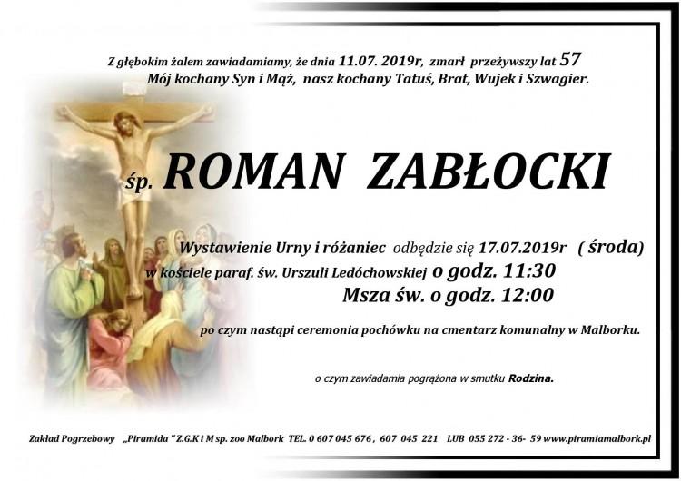 Zmarł Roman Zabłocki. Żył 57 lat.