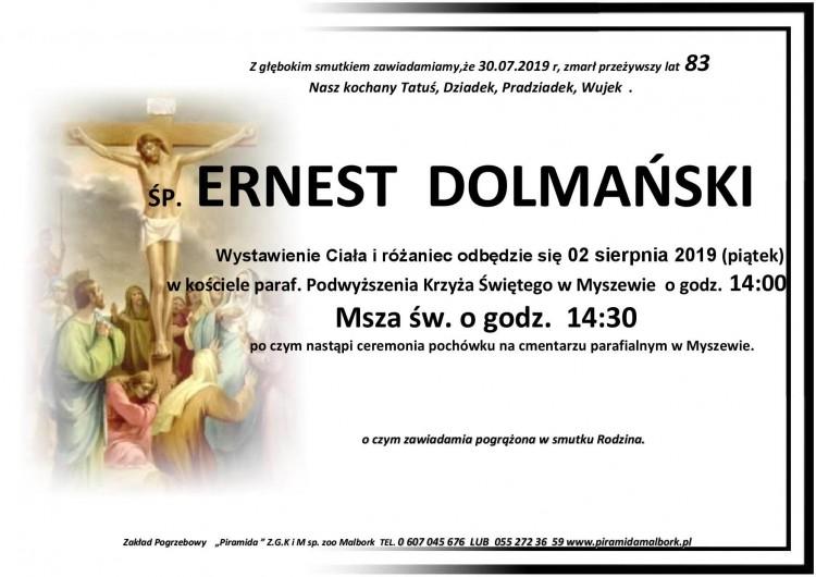 Zmarł Ernest Dolmański. Żył 83 lata