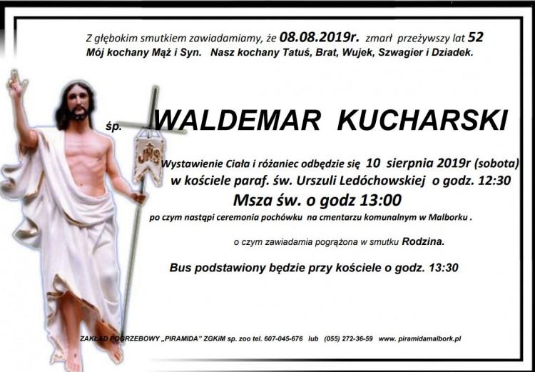 Zmarł Waldemar Kucharski. Żył 52 lata.