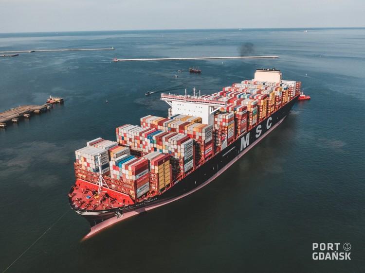 Gdański port nawiedził kolos z Chin.
