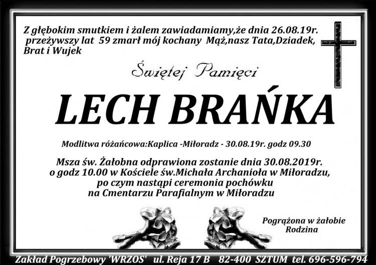 Zmarł Lech Brańka. Żył 59 lat.